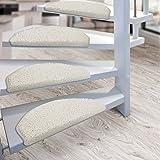 Kit de 15 marchettes d'escalier casa pura® Sphinx à poil long | amortissantes et résistantes | crème...