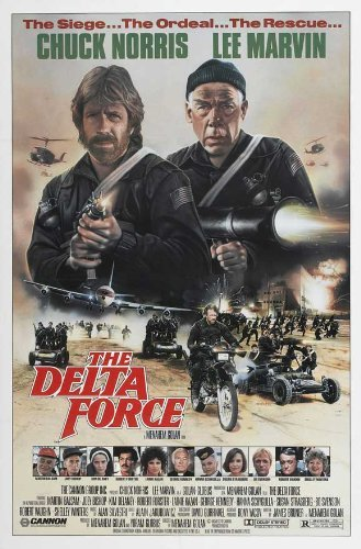 1986 Poster (Delta Force Movie Poster (27 x 40 Inches - 69cm x 102cm) (1986) -(Lee Marvin)(Chuck Norris)(Shelley Winters)(Martin Balsam)(George Kennedy)(Hanna Schygulla) by MG Poster)