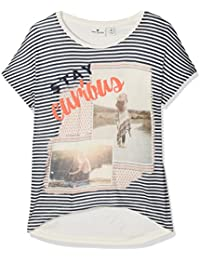 TOM TAILOR Kids Mädchen T-Shirt Photo Collage Tee with Cutouts