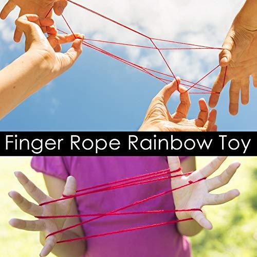 Libertry Finger String - Juego De Cuerda De Dedo De Cuerda Juego De Habilidad De Cuerda De Arco Iris Juguete Educativo, Ejercicio Flexibilidad De Dedo Regalo De Fiesta para Niños, para Niños, Handy