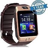 Padraig DZ09 Bluetooth Smartwatch (Brown/Gold)