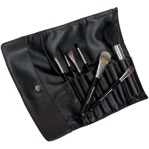 Royal & Langnickel Silk Pro - Set di pennelli cosmetici in astuccio arrotolabile - Langnickel Pennelli