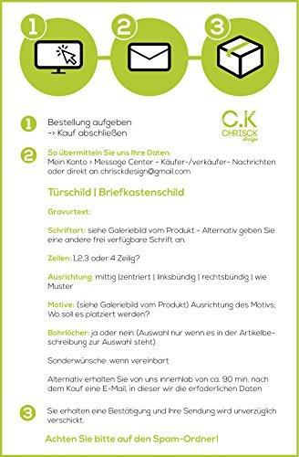Namensschild Edelstahl mit Gravur - 6