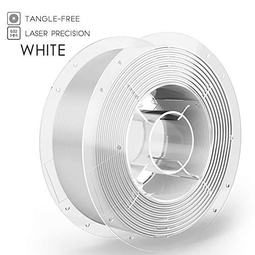 SainSmart PRO-3 PLA 3D-Drucker Filament, 1.75mm, Verwicklungs-Freier erstklassiger, 1KG Spule, Weiss