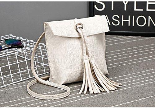 3b5337f8965ff ... kleine Handtasche Weiß. Frauen-Damen-Mädchen-Schulter-Beutel