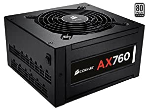 Corsair CP-9020045-EU Professional Series AX760 ATX/EPS Modulaire Complet 80 PLUS Platinum 760W  Alimentation PC EU