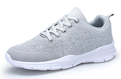 DAFENP Chaussures de Course Running Sport Compétition Trail entraînement Homme Femme Basket Sneakers Outdoor Running Sports Fitness Gym Shoes,XZ747-M-gray-EU42
