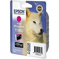 Epson T0963 Inkjet Cartridge UltraChrome K3 Page Life 865pp Vivid Magenta Ref T09634010