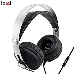 boAT BassHeads 800 Super Extra Bass Wired Headphones with Mic (Black)