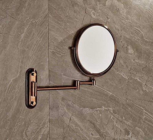 Eeayyygch Badzubehör WC-Bad Rose Golden Forming Vergrößerungsspiegel Bad Wand Erweiterung Double...