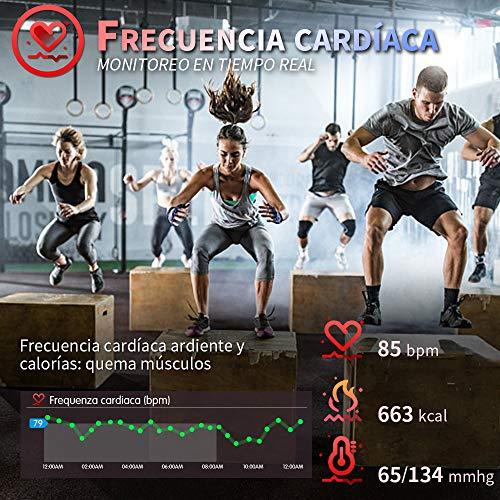 Imagen de hofit pulsera actividad reloj inteligente fitness tracker podómetro monitor de sueño contador de calorías pasos rastreador de ejercicios reloj salud deportiva para mujeres hombres alternativa