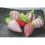 Erdbeeren aus Baumwollstoff