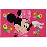 Kinder Teppich Kinderteppich Minnie Mouse / Butterfly / Teppich / Kinder Teppich / Kinderspielteppich / Kinderteppich / Wandteppich / Modell Kinderteppich Disney Minnie Maus / rosa / Dieser wunderschöne und Kinderteppich mit Minnie ist in der Größe 80 x 50 cm