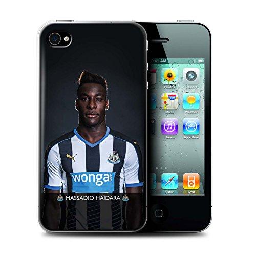 Officiel Newcastle United FC Coque / Etui pour Apple iPhone 4/4S / Pack 25pcs Design / NUFC Joueur Football 15/16 Collection Haïdara