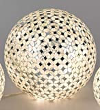 Kugellampe, Leuchte CHAMPAGNER MOSAIK D. 15cm creme Glas Formano W17 Test