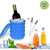 Cubitera Hielo, Ice Genie, Ice Cube Maker, 2 en 1 Cubitera Ahorra Espacio,Usado para Familia / Fruta / CóCtel / Bebida / Al Aire Libre / Restaurante - Pisky.
