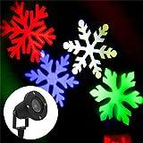 BAODE LED Projektor Lichter,LED Projektionslampe Gartenlicht RGB Snowflake Landschaft Weihnachts Wandstrahler Außenstrahler Lichteffekte dynamische Motive, Party Licht, Gartenlicht für Festen DJ Xmas