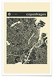 """JUNIQE® Poster 20x30cm Stadtpläne Kopenhagen - Design """"City Maps Series 3 Series 3 - Copenhagen"""" (Format: Hoch) - Bilder, Kunstdrucke & Prints von unabhängigen Künstlern entworfen von Jazzberry Blue"""