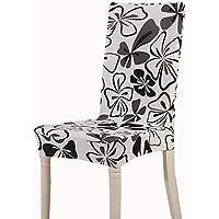 teerfu 4 fundas elásticas cortas extraíbles para silla, para comedor, boda, fiesta, banquetes, Hotel y ceremonia, lavable
