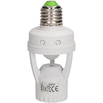 AC110V-240V Automatisch Bewegungsmelder Sensor E27 Lampe Steckdose Schalter