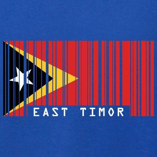 East Timor / Osttimor Barcode Flagge - Herren T-Shirt - 13 Farben Royalblau