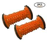 WOD SKAI Fußmassage Rolle Fußroller Muskel Roller Stick für Plantarfasziitis Schmerzlinderung für Handgelenke und Übungsroller für Plantarfasziitis Hacken Fußgewölbe Stressreduzierung (orange)