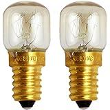 Uonlytech E14 25 watt magnetron lamp apparaat oven koelkast lampen voor oven fornuis koelkast (2 stuks warm wit)