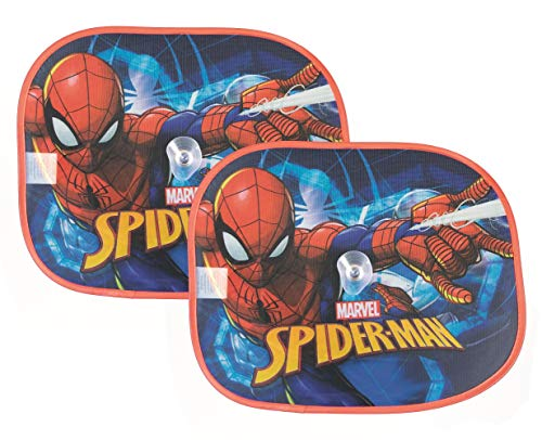 familie24 Sonnenschutz 2er Set Kinder Sonnenrollo Auto Spiderman Paw Patrol My Little Pony PJ Masks (Spiderman)
