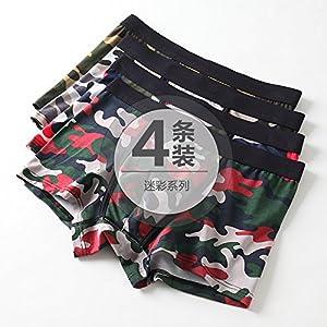 ZHFC-die vier jungen männer – unterwäsche mit baumwolle hosen kopf flut des männlichen taille vier sommer jungs hose winkel
