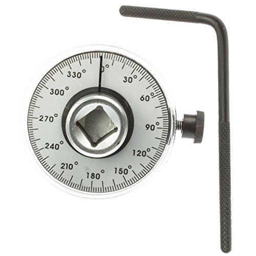 Preisvergleich Produktbild LARS360 1 / 2-Zoll Drenwinkel Messer Messgerät Winkelmesser Drehmomentwinkelmesser 360° Gradmesser Drehmomentschlüssel Winkel Messgerät