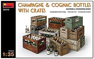 Unbekannt Mini Tipo 35575-Accesorios de construcción Champagne y coñac Bottles W/Crates