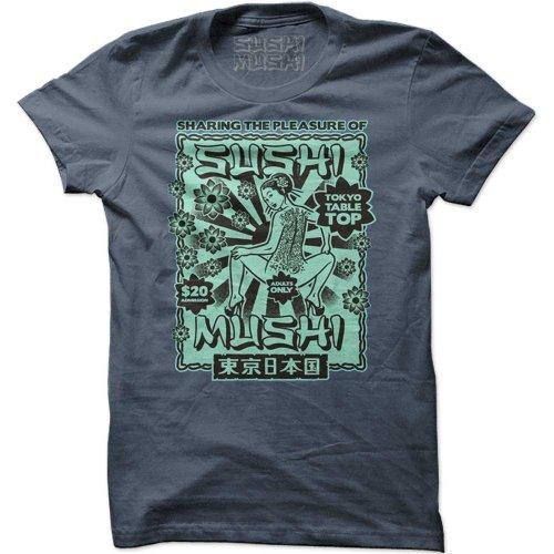 PLEASURE, Herren T-Shirt mit Print, S-XL, mehrere Farben Jeans-Blue