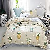 LIMING Student Bettdecke Dreiteilige Baumwolle 1,35 m * 2 m Schlafsaal Single Quilt Home Bettwäsche (Farbe : Q)