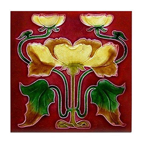 CafePress-Art Nouveau fiori autunnali-Tile Coaster, sottobicchiere, sottopentola, misura