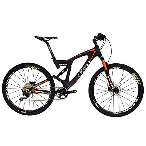 fahrrad carbon rahmen BEIOU Carbon Dual Suspension Mountain Bicycles All Terrain 27,5 Zoll MTB 650B Bike SHIMANO DEORE 10 Geschwindigkeit 12.7kg T700 Rahmen Matte 3K CB22