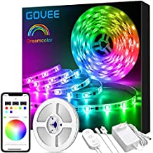 Dreamcolor Tiras LED RGB 5M, Govee Luces LED 5050 SMD Digital, IC Incorporada con APP Multicolor Impermeable IP65, Cinta Tira Led Flexible para Navidad, Habitación, Bar, Fiesta
