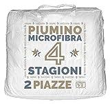 Piumino Matrimoniale 4 stagioni (2 piumini) 200x250 100% POLIESTERE esterno in microfibra morbidissima piumone trapunta vlt