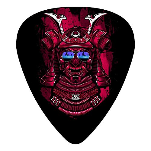 Dj Samurai Techno Guitar Picks Celluloid Print Boys Complete Assorted 12 Pack