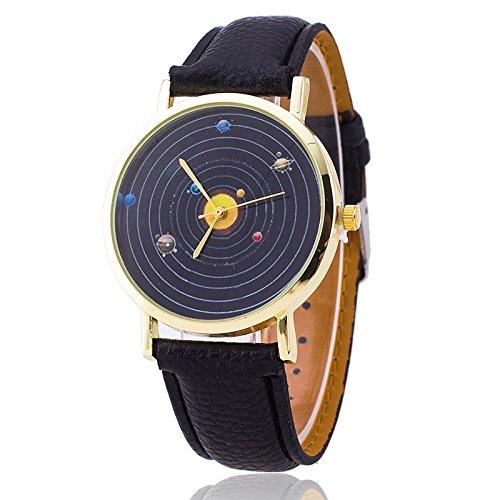 unisex-armbanduhr-planeten-quarz-keine-ziffern-lederband-schwarz-gold