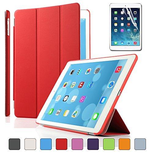 Besdata® Funda Carcasas diseñado para Apple iPad Air poliuretano Apple iPad Smart Cover Rojo - PT4103