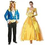 homme et femme Couples Disney Bête & doré Princesse journée du Livre Halloween SEMAINE déguisement costume déguisement - Multi, Ladies 12-14 Mens STD