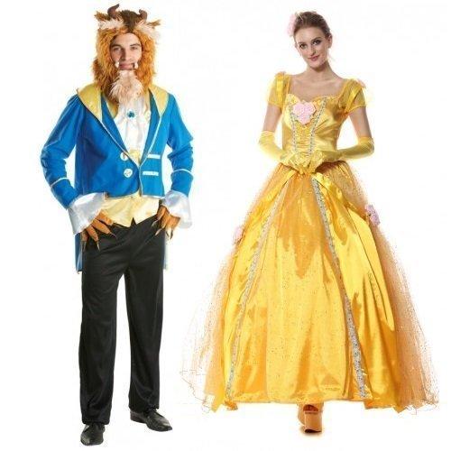 Para hombre de mujer y diseño de pareja de seguridad para anclaje en Belle la bella y la bestia maniquí cómodamente cualquier fiesta de - Kostüme Bestien