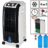 Deuba Climatiseur 4 en 1-4 roues - Ventilateur Climatiseur humidificateur purificateur d'air - Rotation automatique - Maison