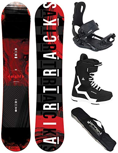 Airtracks Snowboard Set - Wide Board Eight 160 - Softbindung Master - Softboots Strong 43 - SB Bag