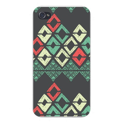 apple-iphone-custom-case-5-5s-white-plastic-snap-on-chevron-pattern-color-drawn-w-diamonds-gaps