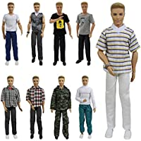 ZITA ELEMENT Lot 5 PCS Fashion Casual Wear Clothes/Outfit for Barbie's Boy Friend Ken Doll And Other 12inch/30cm Dolls