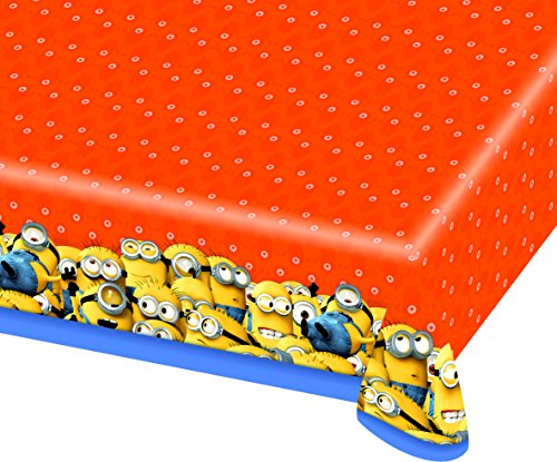 Amscan International 120 x 180 cm Minions Kunststoff tablecovers (Valentine Tischdecken 120)