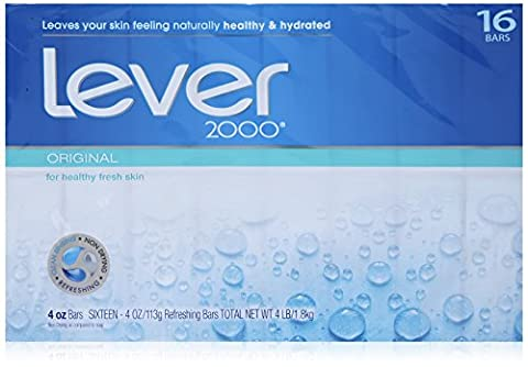 Lever 2000 Moisturizing Bar, Original, 4-ounce Bars in 16-count Package
