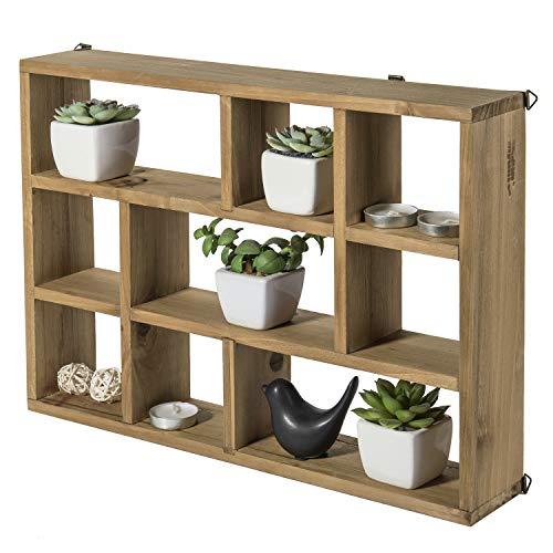 38cm Wandhalterung (Vertikal oder Horizonal) 9Slot rustikalen Holz Wandboards/freistehend Shadow Box (Rustikale Holz-shadow Box)