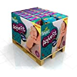 312 couches Pampers Active Fit Taille 4 Maxi (7-18-kg)